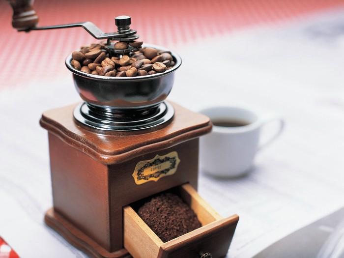 香ばしいコーヒーとコーヒー豆
