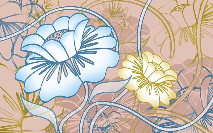 Photoshop花のデザイン壁紙