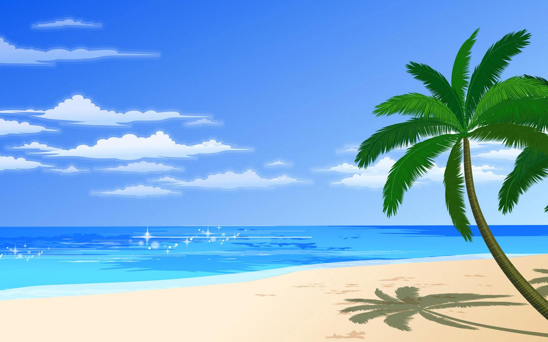 ベクトル夏のビーチ